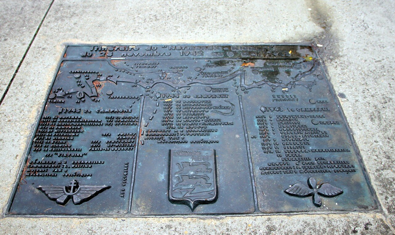 Monument to the regiment 'Normandie-Niemen' in Le Bourget