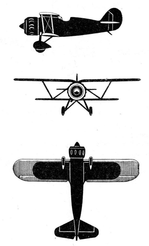 Силуэты итальянских самолетов (1939) 009