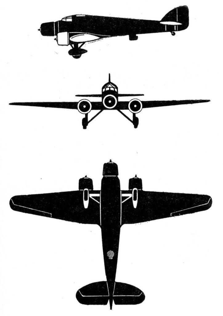 Силуэты итальянских самолетов (1939) 013