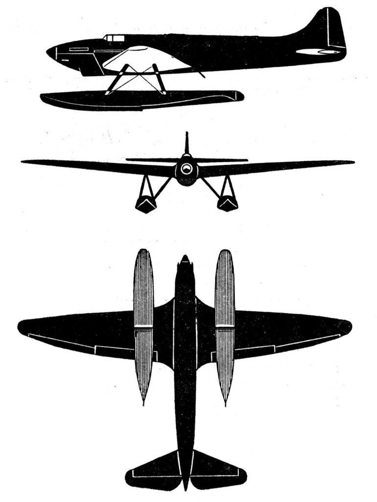 Силуэты итальянских самолетов (1939) 063
