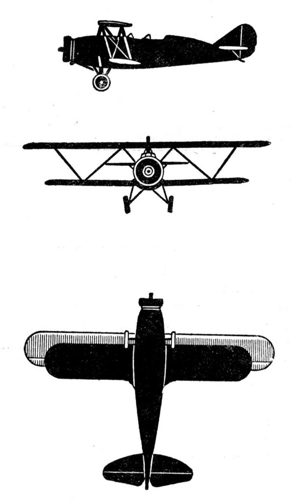 Силуэты итальянских самолетов (1939) 071