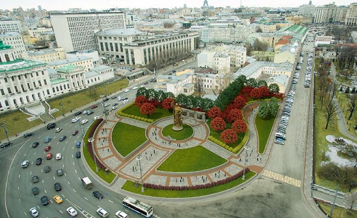 Благоустйроство Боровицкой площади