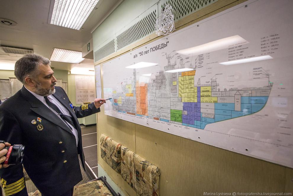 23. Зал управления атомными реакторами — небольшая АЭС. Сами реакторы снимать было нельзя, но в