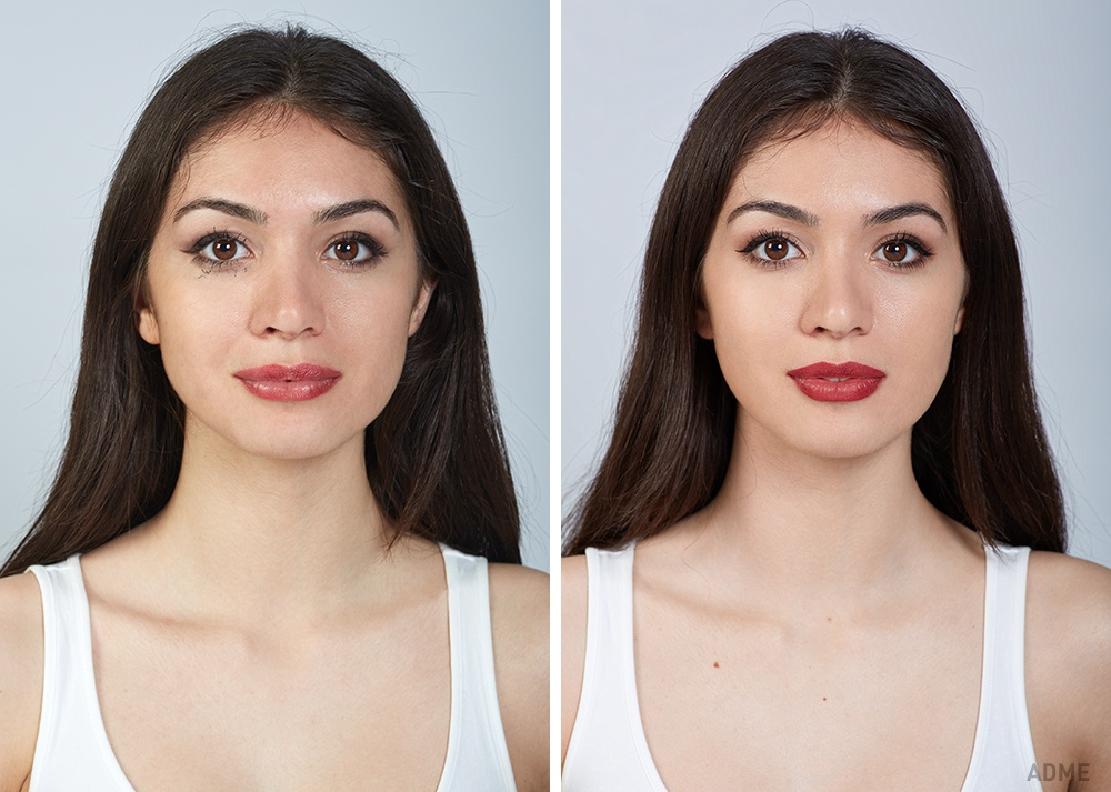 Дешевая косметика (слева): Отпомады практически неосталось иследа. Дорогая косметика (справа): По