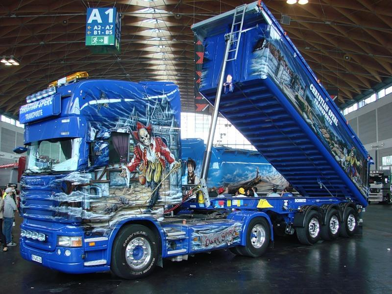 Все великолепие аэрографии на грузовиках