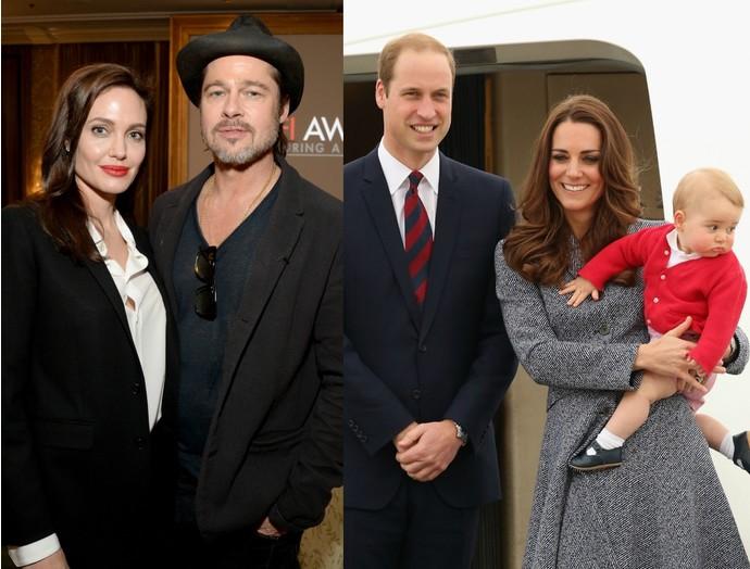 1. Брэд Питт/Анджелина Джоли и Принц Уильям/Кейт Миддлтон Видятся эти две звездные пары достаточно р