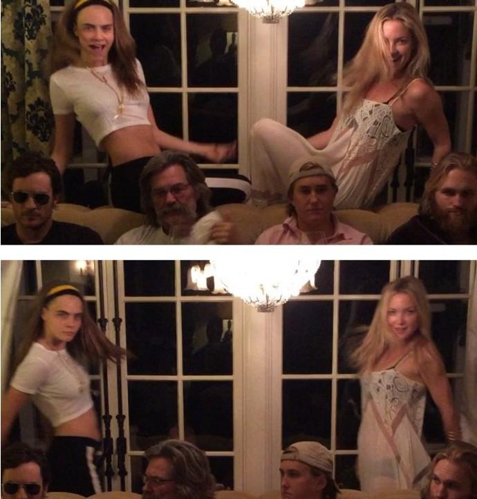 8. Кара Делевинь и Кейт Хадсон В прошлом году модель и актриса вместе отметили День благодарения и д
