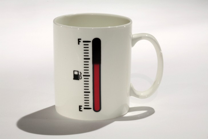 7. Кружка-термометр Кружка, которая демонстрирует температуру напитка.