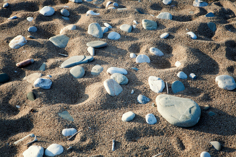Stones in the beach.