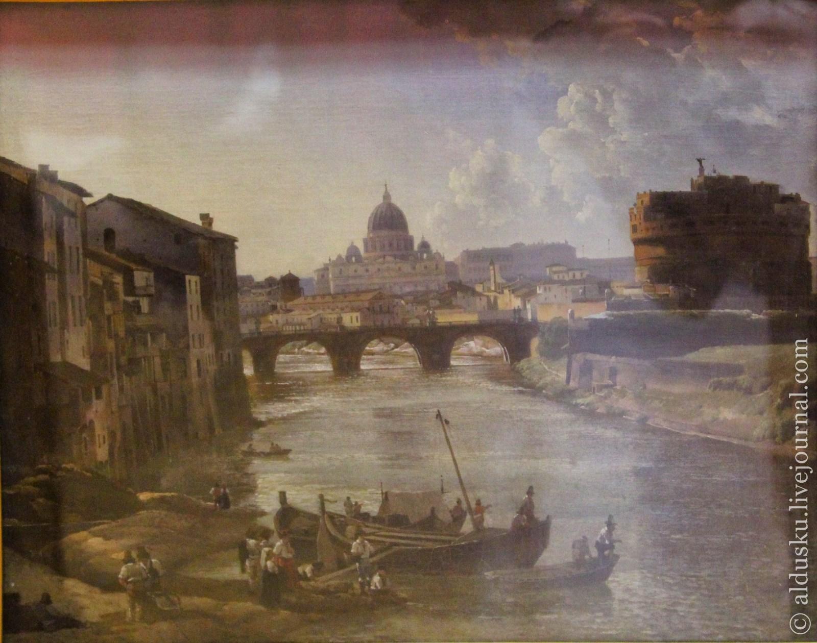 Щедрин С.Ф. (1791–1830) Новый Рим. Замок св. Ангела. 1823 (?). Холст, масло