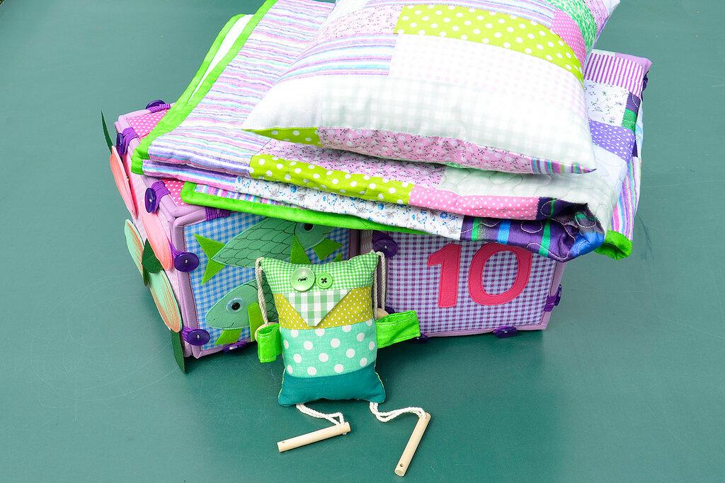 кубики покрывало подушка комплект в детскую салатовый сиреневый (5).JPG