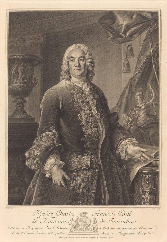 Portrait of Charles François Paul Le Normant de Tournehem (1684-1751)