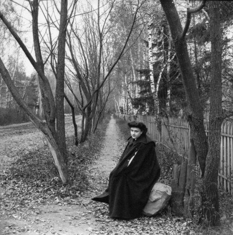 Прогулка в Петровский парк и Соломенную сторожку. «Густя на камне. Одиночество»