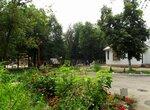 Во дворике храма Косьмы Саратовского