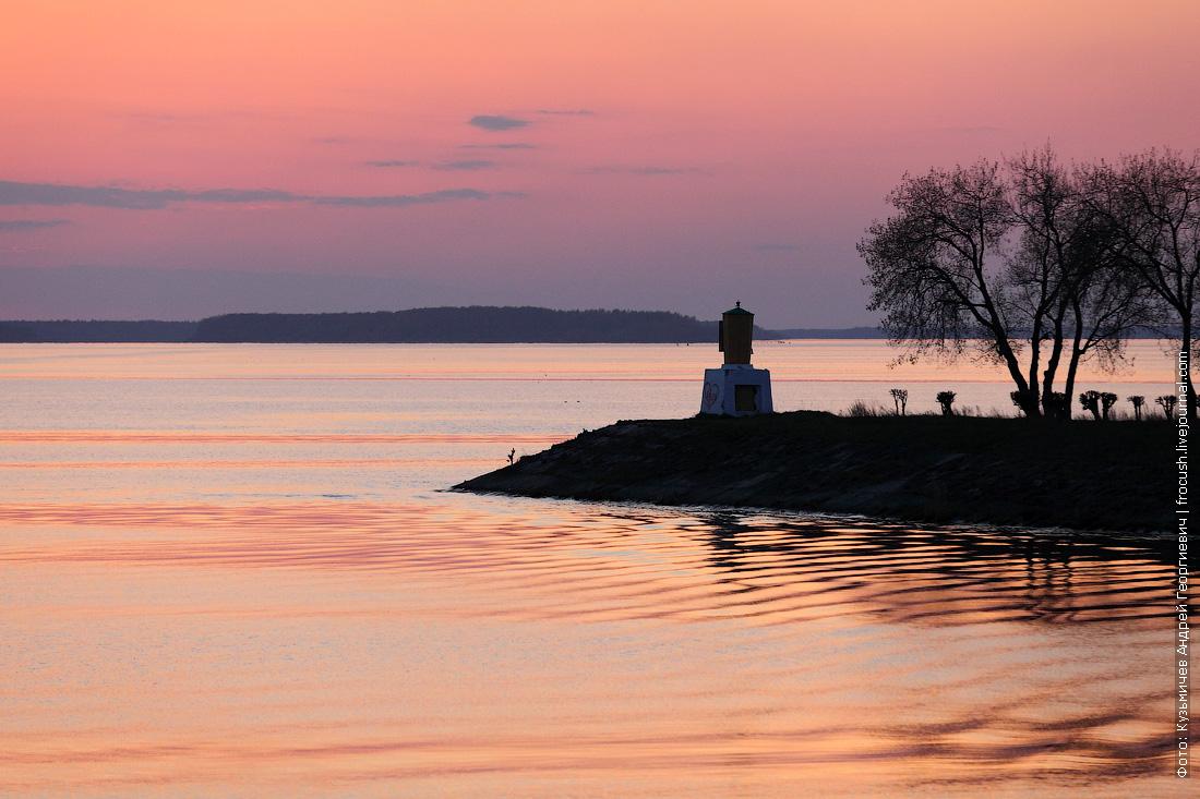 фотография закат Иваньковское водохранилище
