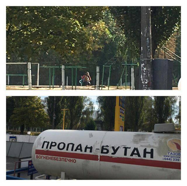 Незаконную газовую заправку возле школы демонтировали в Киеве, - прокуратура. ФОТО