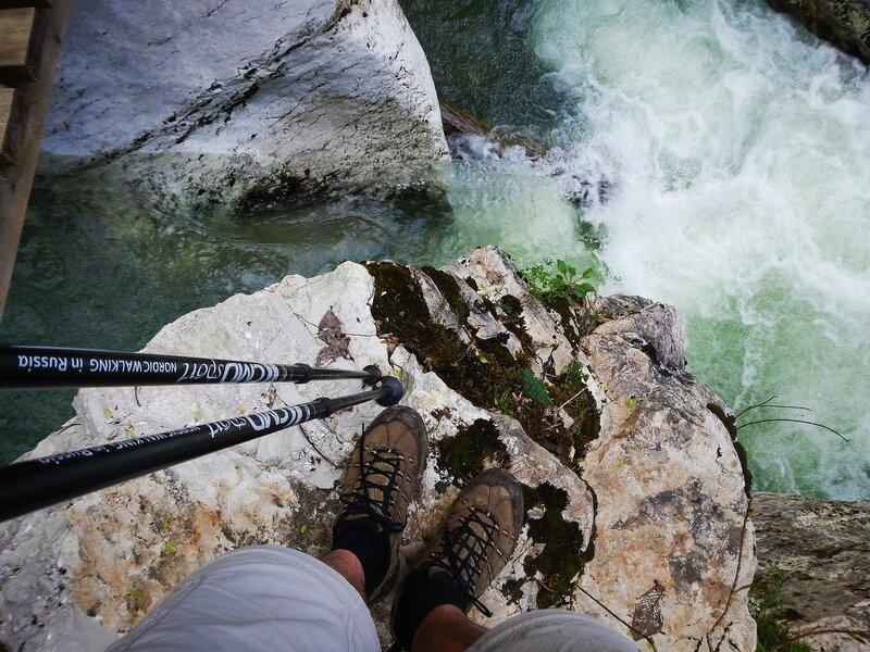 Каньон реки Хоста, палки CMD, ботинки Merrell