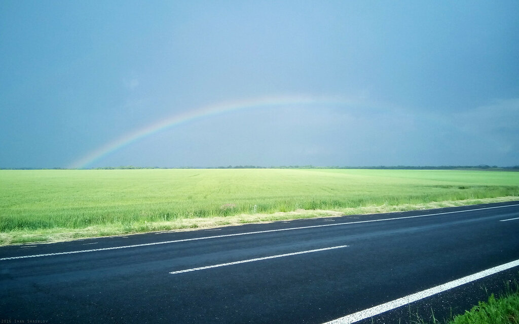 Rainbow Donetsk Dnepr route Selidovo Krasnoarmeysk Pokrovsk Ivan Shashlov 2016 Донецк Днепр трасса Селидово Красноармейск Покровск Ивин Шашлов