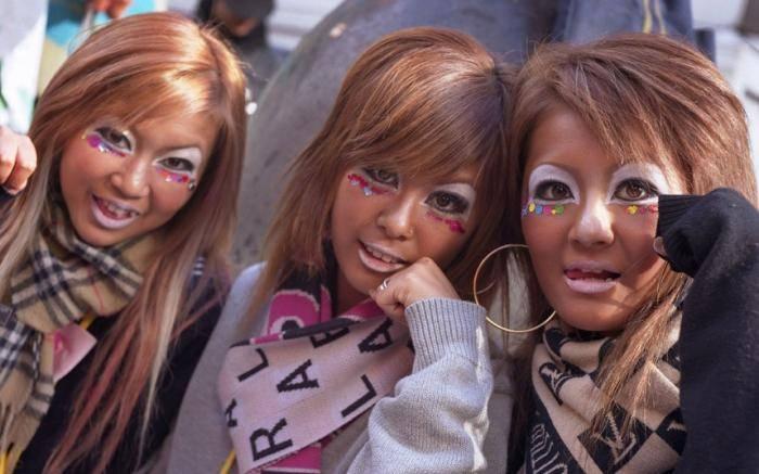 Гангуро – буквально переводится как черное лицо. Особая мода среди японских девушек. Цель &nda
