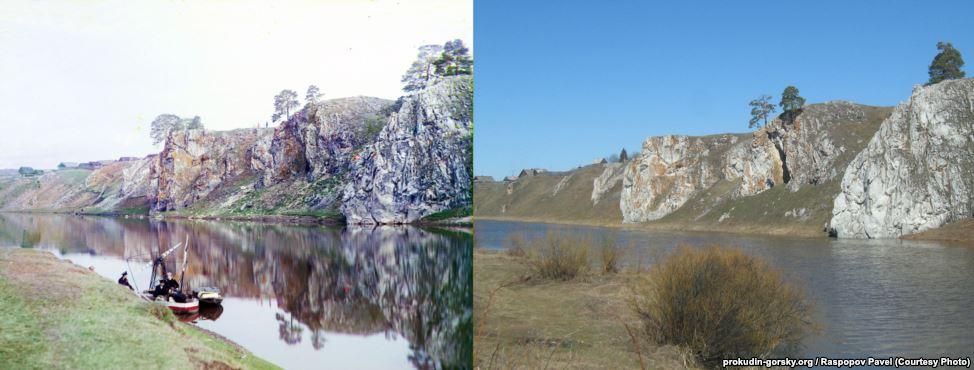 Река Чусовая возле деревни Слобода, 1912/2011. Фото: Павел Распопов.