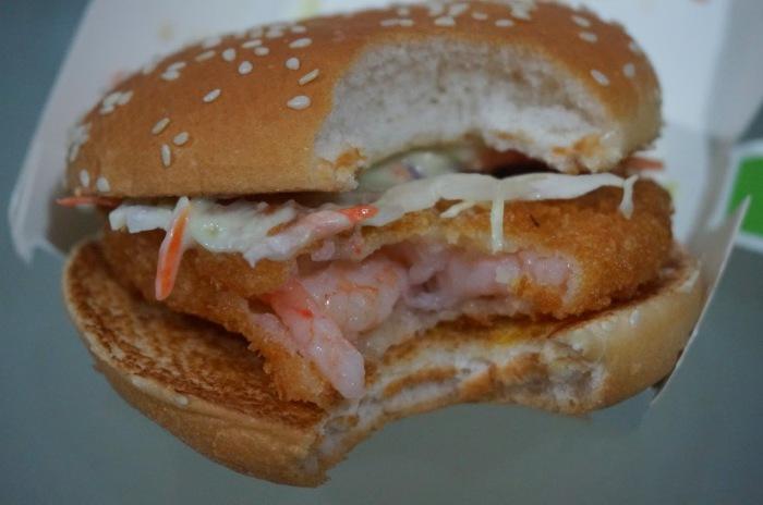 Сэндвич, напоминающий по виду стандартный Филе-O-Фиш (отсюда и произошло название), состоит из пирож