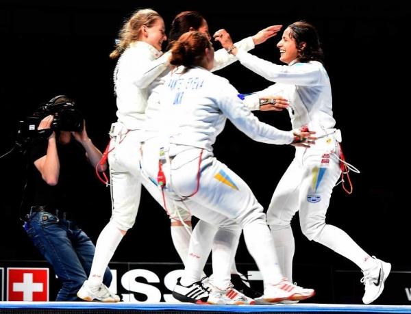 Женская сборная Украины пофехтованию вышла в1
