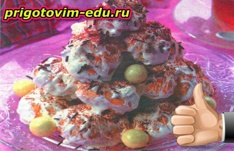 Торт из профитролей с кремом тирамису