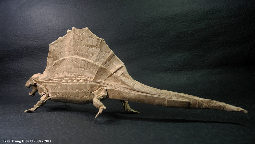 Origami artist and chemistry teacher Adam Tram folds some incredibly beautiful objects with paper. F