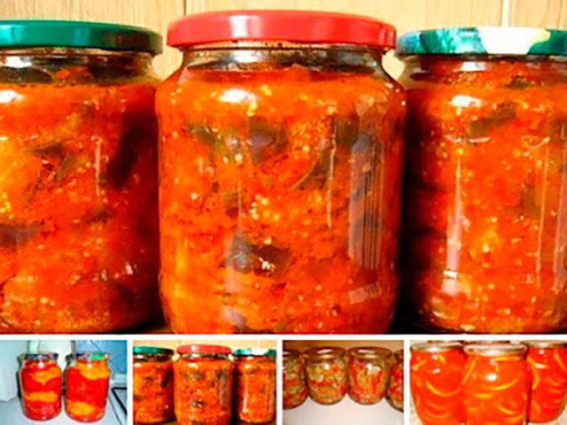 Вкусные салаты на зиму с помидор