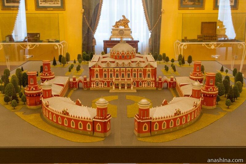 Макет Петровского путевого дворца