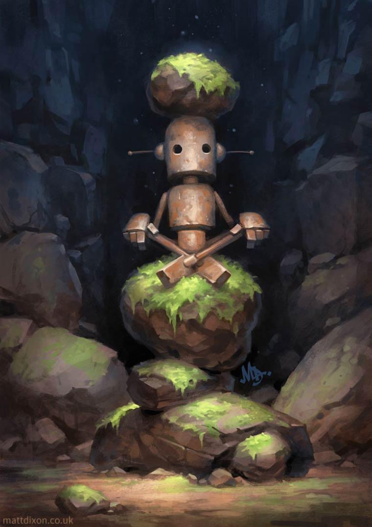 Les adorables petits robots de Matt Dixon