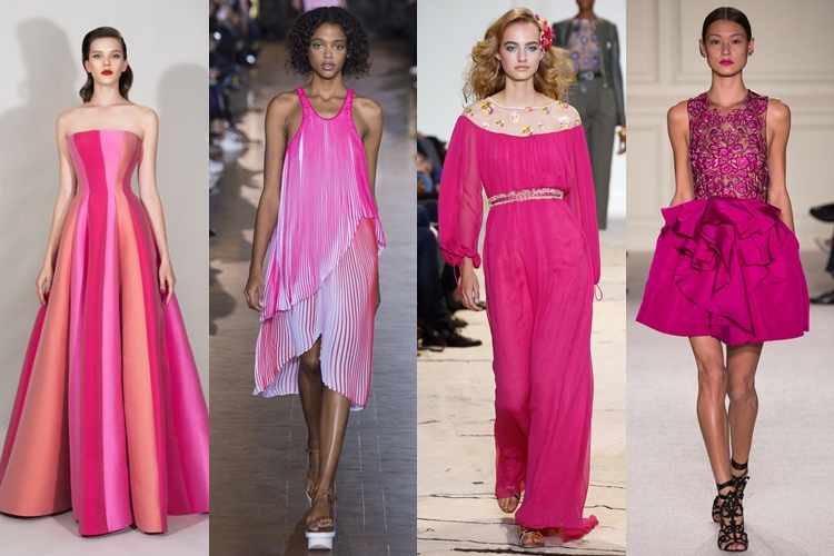 модные цвета весна лето 2016 - яркий розовый