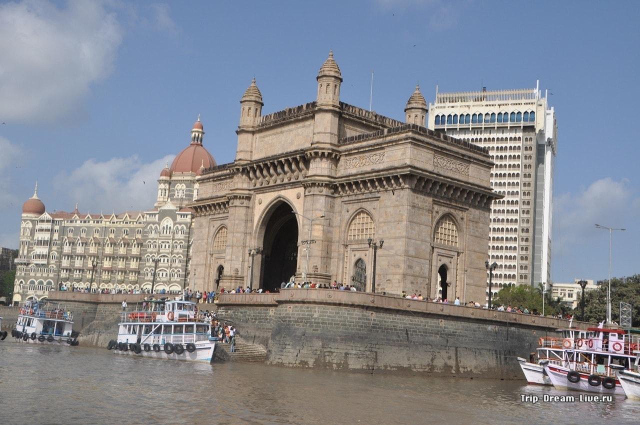 Ворота Индии с воды