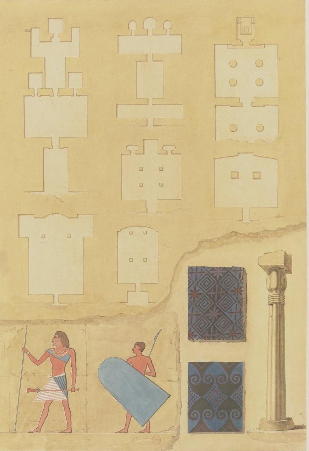 Асьют. План, размеры, высота и детали гробницы