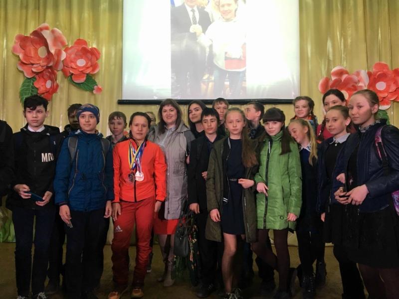 Встреча с Чемпионкой Мира по биатлону Надеждой Федоровой