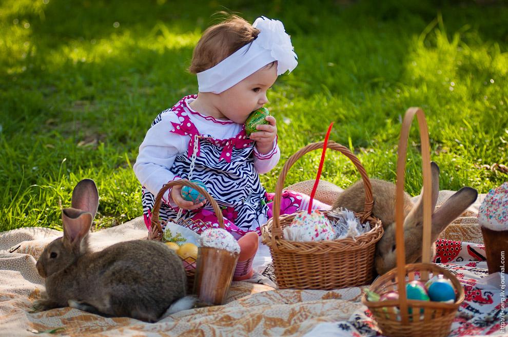 Фото с пасхой детские