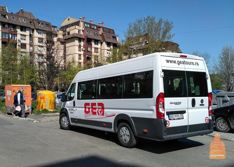 Микроавтобус - не лучший способ добраться по направлению Будапешт - Белград