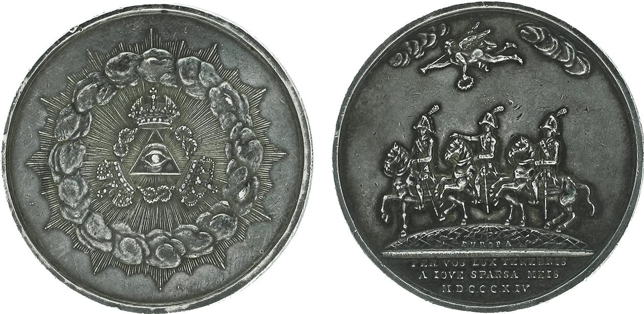 Настольная медаль «В память заключения Парижского мира 1814 г.»