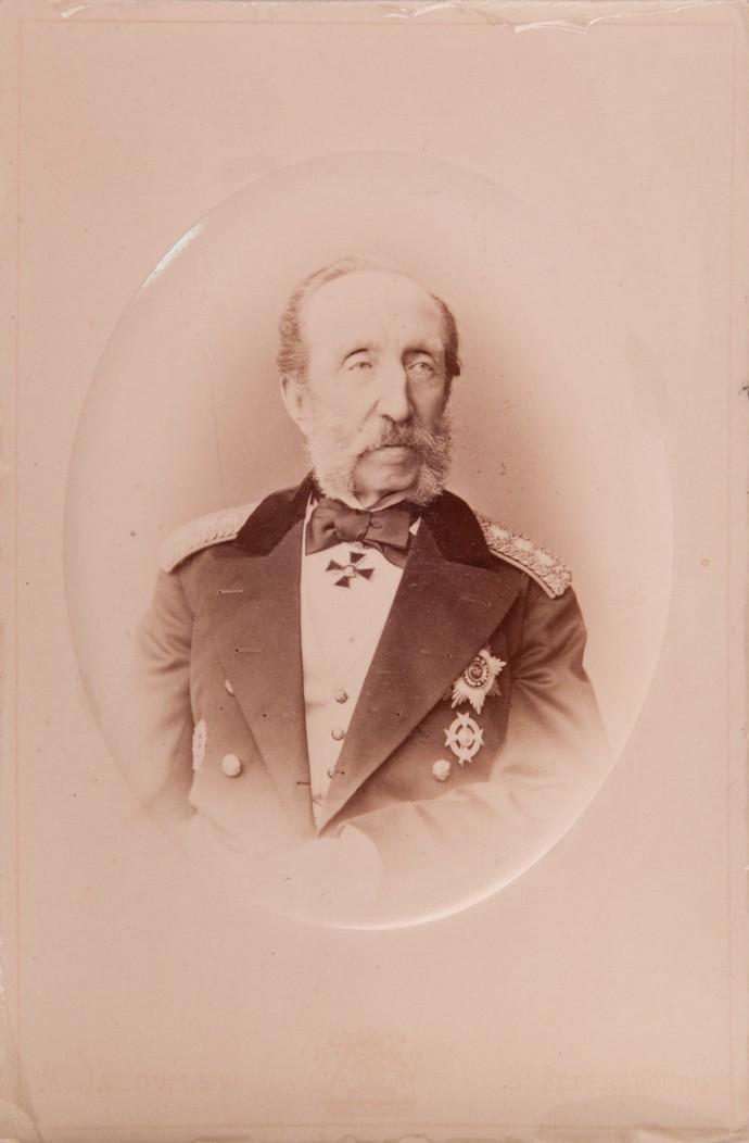 Фото члена Горного Совета и Горного ученого комитета тайного советника А. А. Иоссы. 1879
