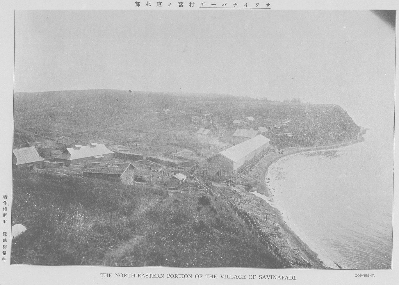 1905. Окрестности Корсакова. Вид деревни Савина Падь.