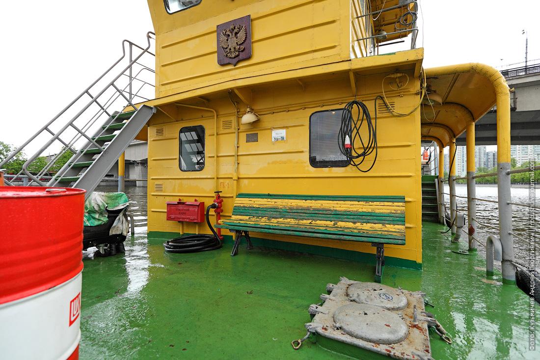 теплоход для очистки водоемов МС-1