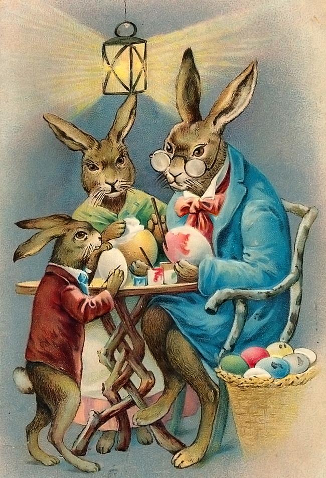 Старые открытки зайцы, открытки