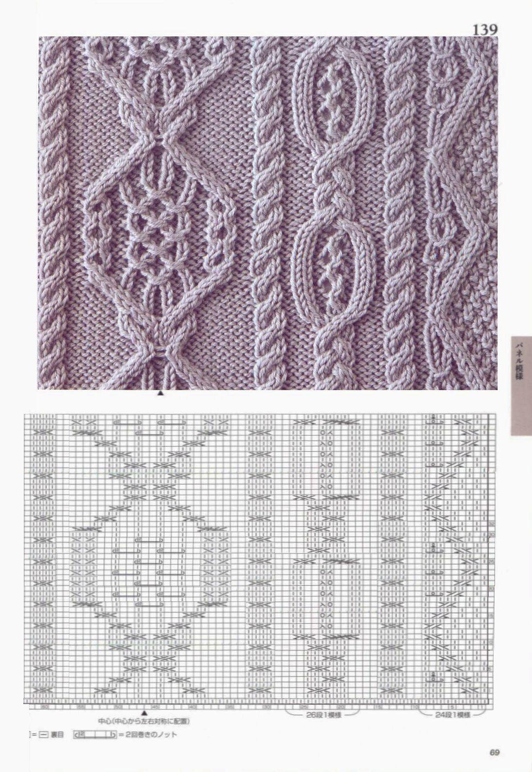 Узоры для вязания спицами японские узоры схемы бесплатно