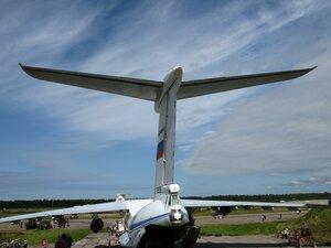 День воздушного флота на аэродроме в Кречевицах - самолёт ИЛ-76МД