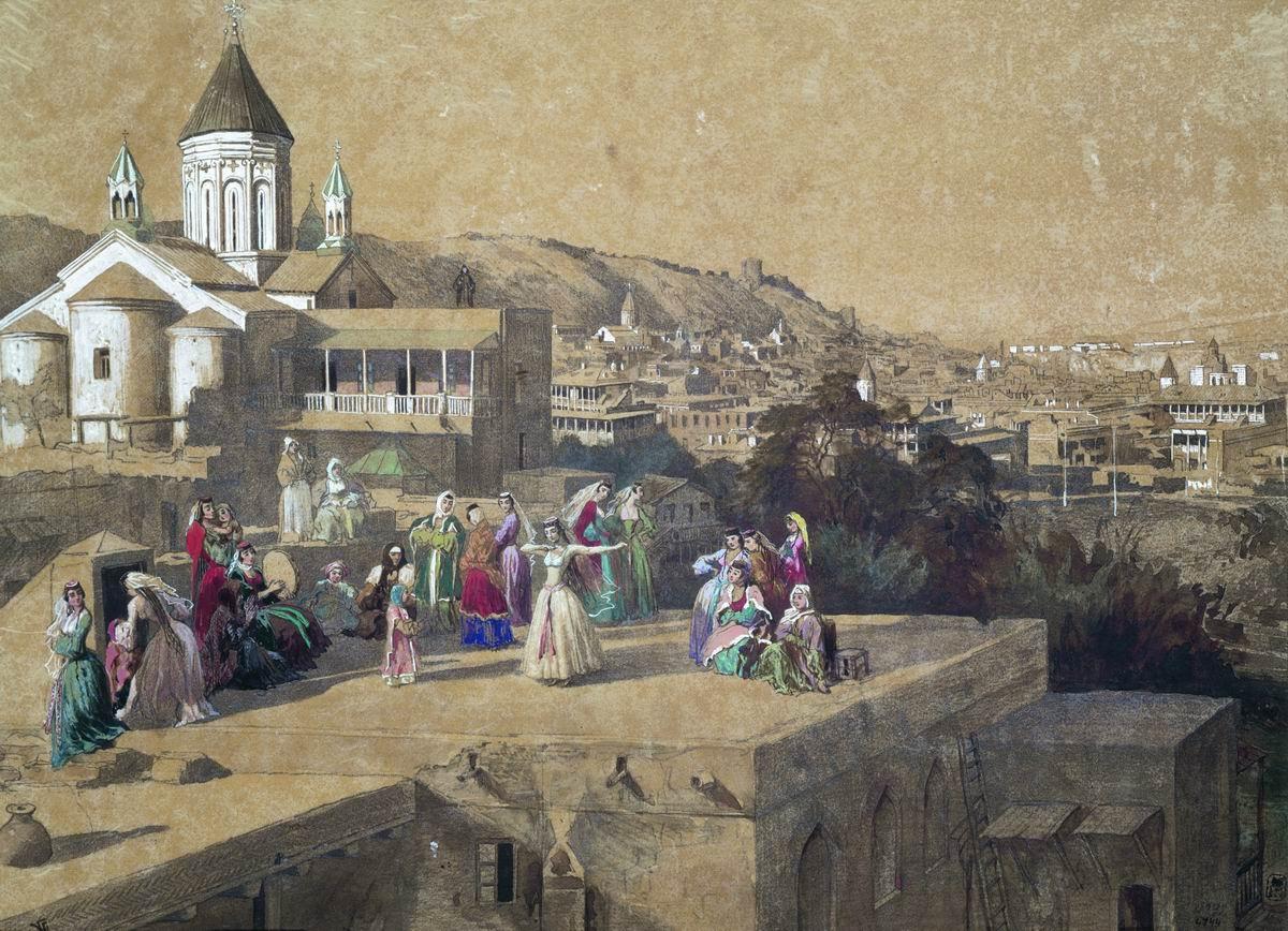 Гагарин Г.Г. На тифлисских кровлях. Танец. Государственный Русский музей