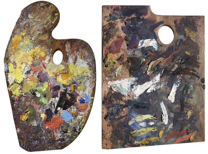 Palette of Claude Monet / Palette of Edouard Manet