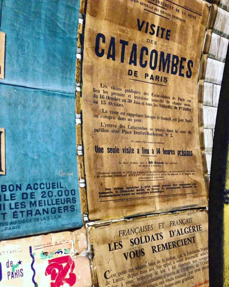 Workers just found vintage posters from the 50s in a subway station of Paris!