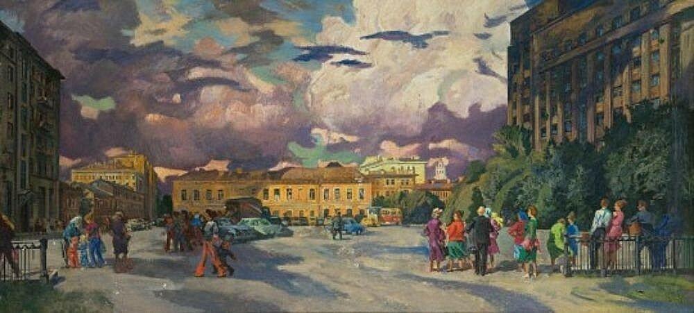 Хохловская площадь. 1964. Валентин Захарович Пурыгин