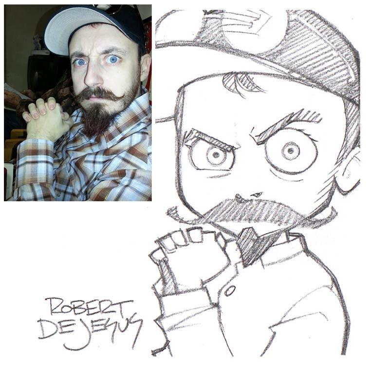 Un illustrateur s'amuse a dessiner le portrait des gens version manga