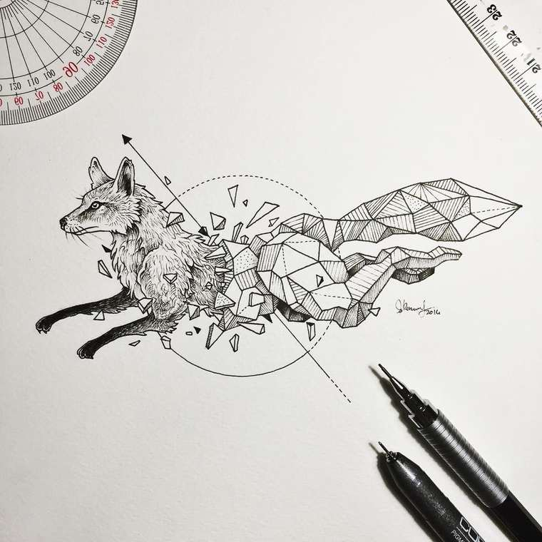 Sketchy Stories - The beautiful geometric animals by Kerby Rosanes